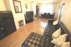 Check out this property for sale on #Zoopla - good settes - light cream wood furniture not dark brown - fireplace bigger in Black set in wall