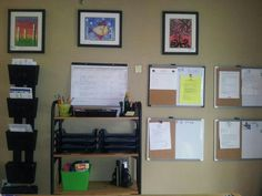 Author: Jessica Fennelly-Belton, has been repinned 4 times Author: N/A and it doesn't have a publication date Argument: This would be a great organizational wall for families of multiple children because each white board could be for each child, along with each child having their own bins for papers.