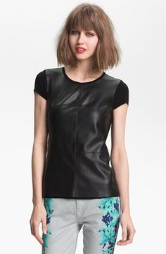 this could be a staple for spring. Bailey 44 'Vaca' Faux Leather Tee available at Nordstrom