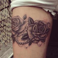 30 Black Rose Tattoo Ideas (27)