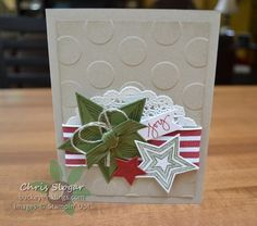 Holiday Stars- if you used different colors it could be a birthday or congratulations card