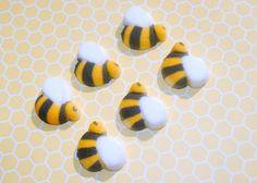 48 Edible Bumble Bee Sugar Decorations