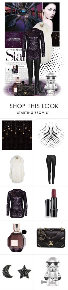 """""""Purple star"""" by amethystes ❤ liked on Polyvore featuring Giorgio Armani, Karl Lagerfeld, Masquerade, STELLA McCARTNEY, R13, By Malene Birger, Lancôme, Viktor & Rolf, Chanel and Yves Saint Laurent"""