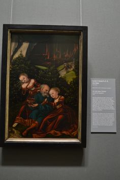 Lot and His Daughters, Lucas Cranach the Elder Lucas Cranach, Female Portrait, Daughters, Museum, Portraits, Frame, Painting, Decor, Art