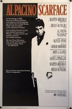 Scarface original vintage 1983 US One Sheet film poster, available from my website.