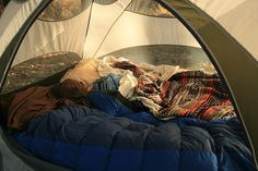 Yes please. #tent #sleepingbags #camping #paradise #forest