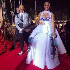 Award Show: Nhlanhla Nciza at Abryanz Style & Fashion Awards 2017 African Bridal Dress, African Print Wedding Dress, African Wedding Attire, Latest African Fashion Dresses, African Dresses For Women, African Print Fashion, African Attire, Africa Fashion, South African Traditional Dresses