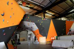 Stone Age Climbing Gym 2.0 under-construction in Albuquerque NM. Opening in March 2014, this is going to be one of the best gyms in the country. It's enormous, this is just one room.