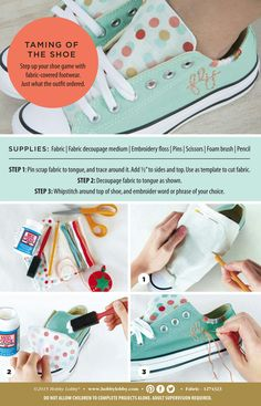 Personalize sneakers