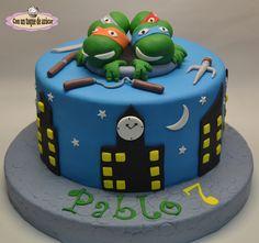 Tarta tortugas ninja, Ninja Turtles cake, tortugas ninja torta