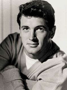 Rock Hudson,   the face of an angel. Possibly the most beautiful man I have ever seen!