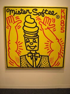 by Keith Haring Keith Allen, Keith Haring Art, Modern Pop Art, Birth And Death, Graffiti Art, Orange, Yellow, American Artists, Contemporary Artists