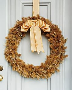 Covered wreath hook