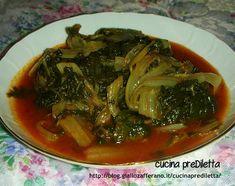 Le bietole al pomodoro sono un piatto da servire come primo piatto, indicato soprattutto per la cena, o come contorno.