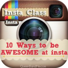 Really Great Instagram basics PLUS some super awesome apps to make your photos POP! #instagram #photos #apps #iphone #queenbandme