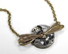 Steampunk Jewelry Necklace Vintage Pocket Watch by edmdesigns