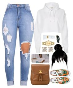 """""""18 May, 2016"""" by jamilah-rochon ❤ liked on Polyvore featuring River Island, Kenzo, Chanel, Movado, Anita Ko and Carven"""