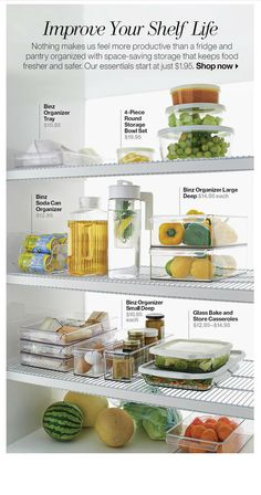 Some nifty storage ideas, courtesy of Crate & Barrel.
