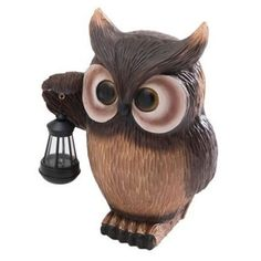 Sunjoy Owl Garden Statue with Solar LED Lantern - 110301064