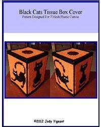 Black Cats Tissue Box Cover