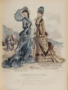 Frank Leslie's Lady's Magazine 1876 *Many Illustrations 1870s Fashion, Edwardian Fashion, Vintage Fashion, Victorian Gown, Victorian Costume, Historical Costume, Historical Clothing, Jean Délavé, Fashion Illustration Vintage