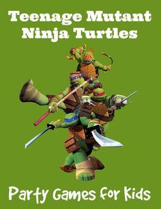 Teenage Mutant Ninja Turtles Party Games for kids at MyKidsGuide.com
