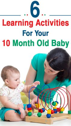 6 Learning Activities For Your 10 Month Old Baby: This is the time when you should start interacting with your baby in a positive manner, helping him develop the balancing act.Here are some of the milestones that your 10 month old might attain 10 Month Old Baby Activities, Baby Learning Activities, Sensory Activities, Infant Activities, Educational Activities, Sensory Play, 10 Month Olds, Baby Month By Month, 10 Month Old Baby Food