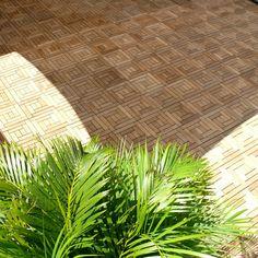 Infinita Le Click© Spiral Teak Deck Tiles Box of 10 Tiles in Natural