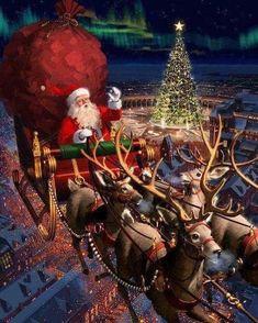 Noel Christmas mobile background - ⛄ Christmas wallpaper for IPh . Merry Christmas Gif, Christmas Scenes, Christmas Past, Vintage Christmas Cards, Christmas Images, Winter Christmas, Animated Christmas Pictures, Xmas, Old Time Christmas