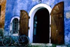Gorgeous doorway... blue building