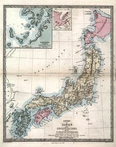 1855 map of Japan. By Walker, John, Society for the Diffusion of Useful Knowledge