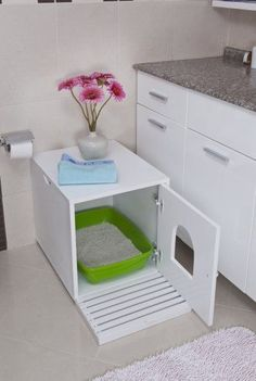 cat litter house -