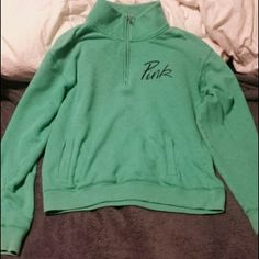 2b9fbe1fd teal mint green vs half zip sweater