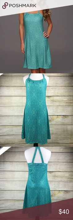 Prana Turquoise Kaleidoscope Quinn Dress NWT NWT. Turquoise color. Size small. Prana. Quinn Dress. Stretchy material. Prana Dresses