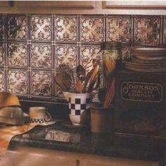 copper kitchen back splash?