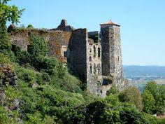 Chateau de Broc - Puy de Dome, Auvergne - ruins