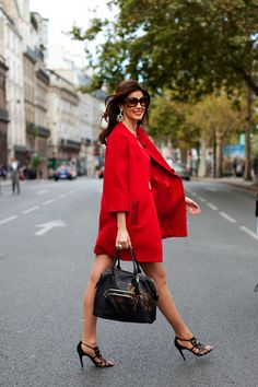 Red + Black + Cavalli= Perfecto!! <3  On the Street….Left Bank, Paris « The Sartorialist