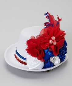 Another great find on #zulily! My Sunshine Shoppe White & Red Flower Top Hat Hair Clip by My Sunshine Shoppe #zulilyfinds