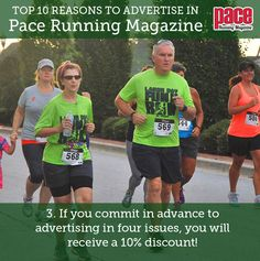 Top 10 Reasons to Advertise in Pace Running Magazine! Pace Running, Running Magazine, Advertising, Top, Crop Shirt, Shirts
