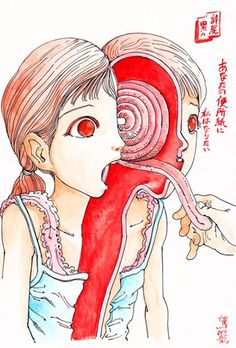HAIKU Art Review: Shintaro Kago (駕籠 真太郎) - Schoolgirls dissected - Endless self mutilations - Brutal vanity- http://goo.gl/d8ILXf