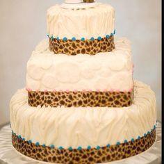 My animal print wedding cake!!! Texas star bakery