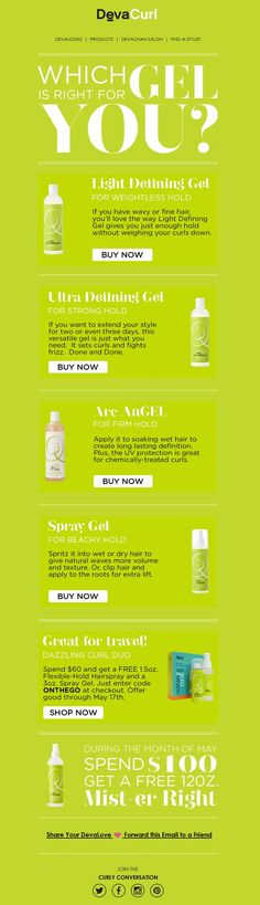 Which gel is right for you?