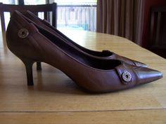 Women's Brown Leather Circa Comfort 365 Joan and David Pumps Size 8 Med NEW #CircaJoanDavid #PumpsClassics