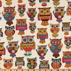 Owl Fabric.