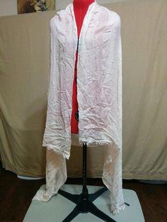 """Ann Taylor Oversized Shawl Pale Peach Wrap Sheer Lightweight 43"""" by 74"""" #AnnTaylor #ShawlWrap"""