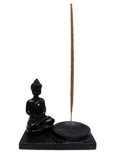 Incensário (Porta Incensos) Buda Zen em Resina 09x09cm - http://www.artesintonia.com.br/incensario-porta-incensos-buda-zen-em-resina-09x09cm