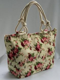Canvas Handbags & Purses for WomenLike the idea of the handle.Easy duffle could be made with pre quilted fabric to look like a vera bradley salvabrani purseslikeverabradley – Artofit Pre Quilted Fabric, Quilted Bag, Canvas Handbags, Tote Handbags, Bag Quilt, Bag Sewing, Bag Patterns To Sew, Patchwork Bags, Denim Bag