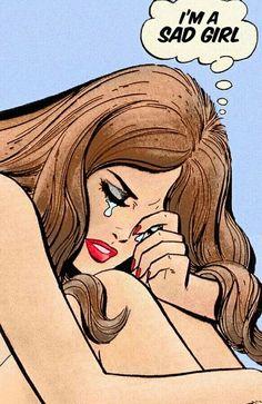 Lana Del Rey love this song! Pop Art Vintage, Vintage Cartoon, Vintage Comics, Retro Art, Comic Art, Comic Kunst, Comic Books Art, Art Pulp Fiction, Dibujos Pin Up