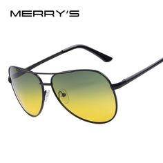 MERRY'S Men Polaroid Sunglasses Night Vision Driving Sunglasses 100% Polarized Sunglasses  Price: 5.38 USD