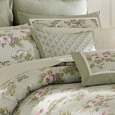 Laura Ashley Home Avery Embroidered Pillow!!